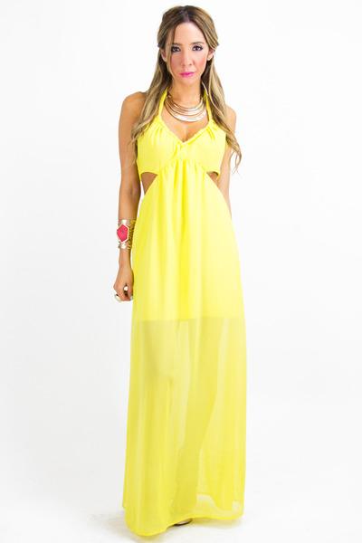 yellow chiffon HAUTE & REBELLIOUS dress