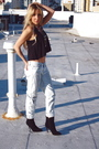 Silver-degaine-jeans-black-soho-blouse-black-form-colombia-boots-forever-2