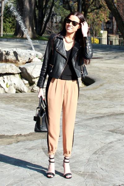 Zara jacket - loewe bag - rayban sunglasses - Mango sandals - Zara pants
