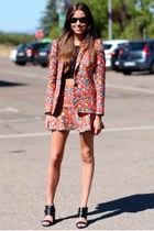 Zara blazer - Zara skirt - Zara sandals - Mango top