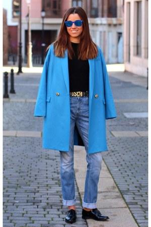 Levis jeans - Zara jumper - Moschino belt