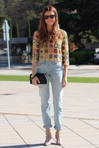 Levis jeans - christian dior bag - ray-ban sunglasses - Valentino heels