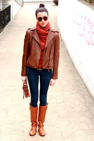 Massimo Dutti jacket - Massimo Dutti boots - Mango jeans - Etro bag