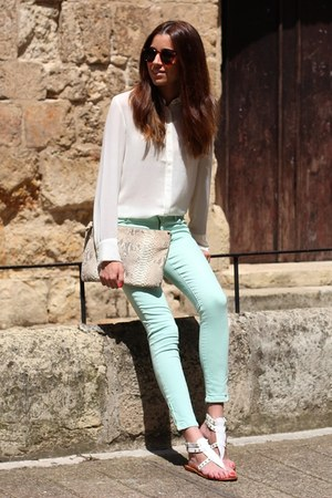 Mango sandals - Zara pants - Mango blouse