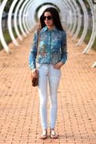 Zara jeans - Zara blouse - exe sandals