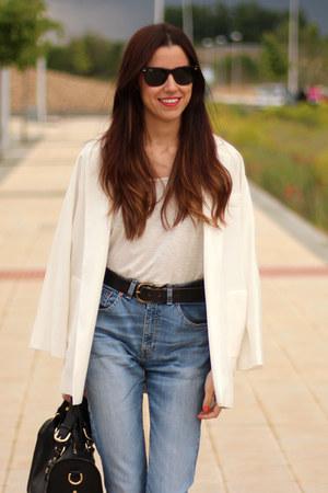 Zara blazer - Levis jeans - Oysho t-shirt