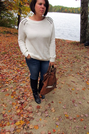 cream Express sweater - tawny Aldo bag