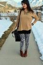 Black-cotton-forever-21-shirt-brown-leather-vintage-shoes