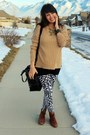 Brown-leather-vintage-shoes-dark-khaki-knit-gift-sweater