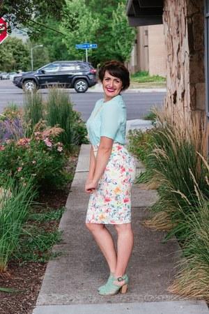 ivory floral Hope Avenue skirt