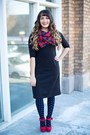 Black-cotton-kosher-casual-dress