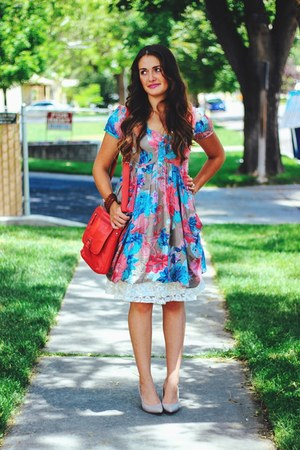 bubble gum floral joe browns dress
