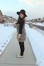 Black-tunic-unknown-dress-black-floppy-forever-21-hat