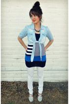 light blue chambray OASAP shirt - blue striped Forever 21 shirt
