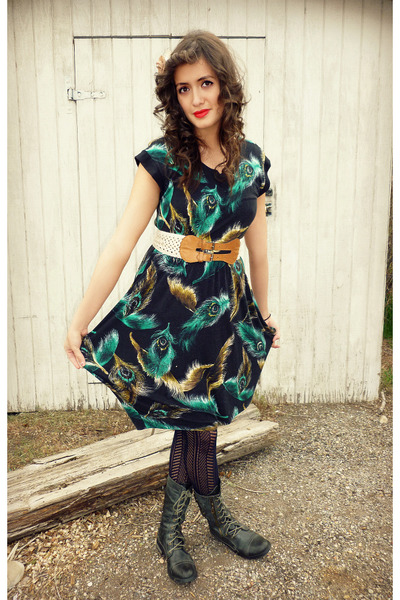 b8f7e582688 dark gray combat boots Forever 21 boots - black Forever 21 dress