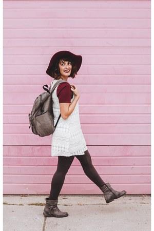 charcoal gray backpack TWELVElittle bag