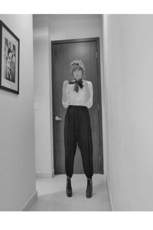 Zara pants - Zara hat - Zara blouse - self-made tie