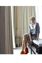 vintage dress - bought online wedges