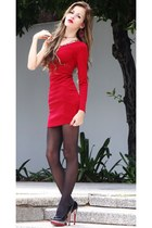 red Dress dress - dark gray Aldo tights