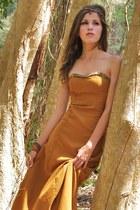 mustard Home made dress
