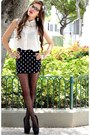 Gray-american-eagle-tights-black-aeropostale-skirt