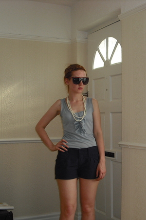 Paul and Joe Sister top - Blend she shorts - Primark necklace - Topman sunglasse