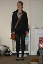 ben sherman coat - Matalan top - H&M skirt - H&M leggings - asos shoes - Topshop