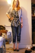 Dorothy Perkins blazer - Fred Perry shirt - Dorothy Perkins belt - Topshop jeans