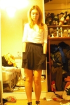 Miss Selfridge top - American Apparel skirt - Primark shoes