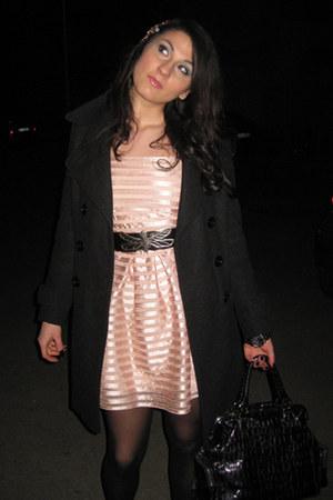 Kocca coat - H&M dress - Fornarina belt