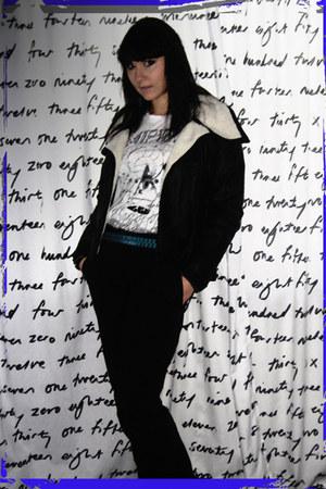 H&M blazer - Lee t-shirt - H&M pants