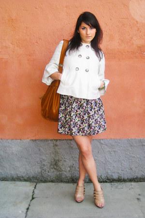 no brand jacket - jennyfer bag - H&M skirt - Buffalo London heels