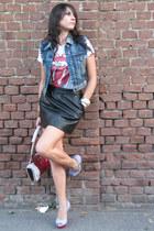 H&M t-shirt - H&M skirt - Buffalo London shoes - Fornarina bag