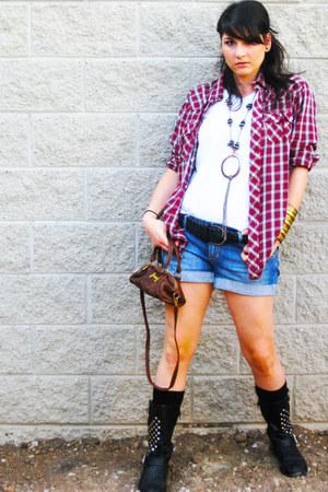 Ovs Industry boots - Bershka shirt - H&M shorts - H&M t-shirt