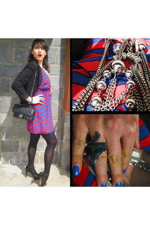 H&M dress - Zara blazer - Chanel bag - Zara heels