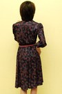 Purple Floral Dress Vintage Dresses