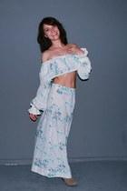 maxi floral vintage skirt