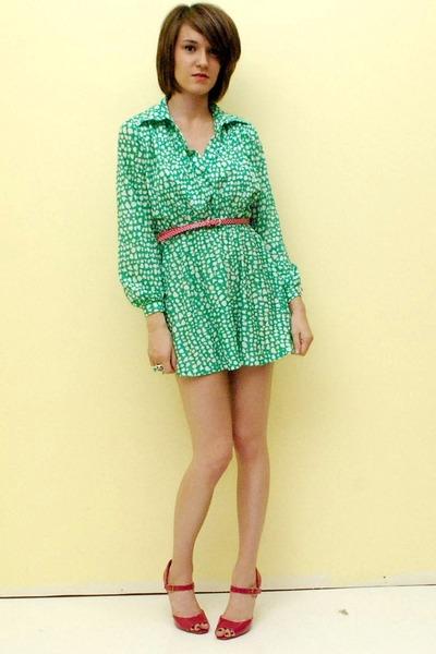 shirt dress vintage dress