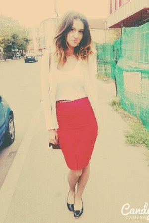 red DIY skirt