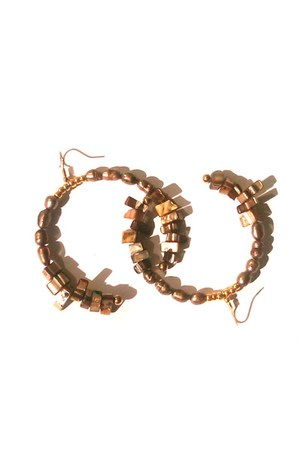 bronze Deen  Gray earrings