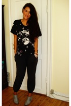 H&M t-shirt - Vero Moda pants - H&M boots