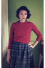 Navy-vintage-dress-ruby-red-banana-republic-sweater
