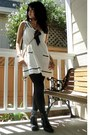 Black-forever-21-boots-white-forever-21-dress-ruby-red-zenana-outfitters-coa