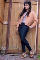 coral vintage no brand sweater - navy denim curves Blue Asphalt jeans