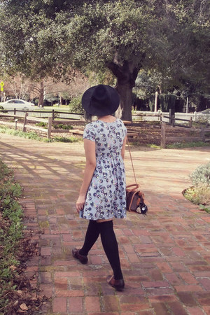 periwinkle Studio Ghibli dress - dark brown oxfords Call it Spring shoes