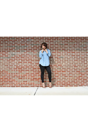 black citizens of humanity jeans - sky blue madewell shirt