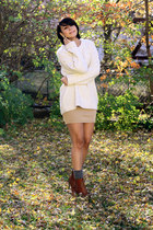 Topshop sweater - American Apparel skirt - Marc Fisher shoes