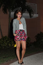 Black-striped-h-m-jacket-hot-pink-floral-lux-shorts-black-chinese-laundry-fl