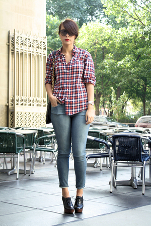 Gap shirt - BDG jeans - laura brandon shoes