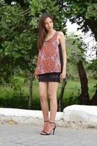 FF Store blouse - FF Store skirt - Schutz sandals